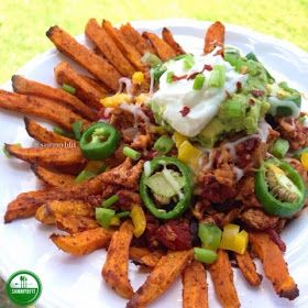 With Peanut Butter on Top: Sweet Potato Fry Chicken Nachos