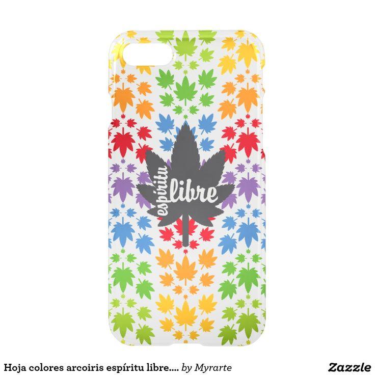 Hoja colores arcoiris espíritu libre. Vector plant. Producto disponible en tienda Zazzle. Tecnología. Product available in Zazzle store. Technology. Regalos, Gifts. Link to product: http://www.zazzle.com/hoja_colores_arcoiris_espiritu_libre_vector_plant_iphone_7_case-256701033596991155?CMPN=shareicon&lang=en&social=true&rf=238167879144476949 #carcasas #cases #marihuana #cannabis