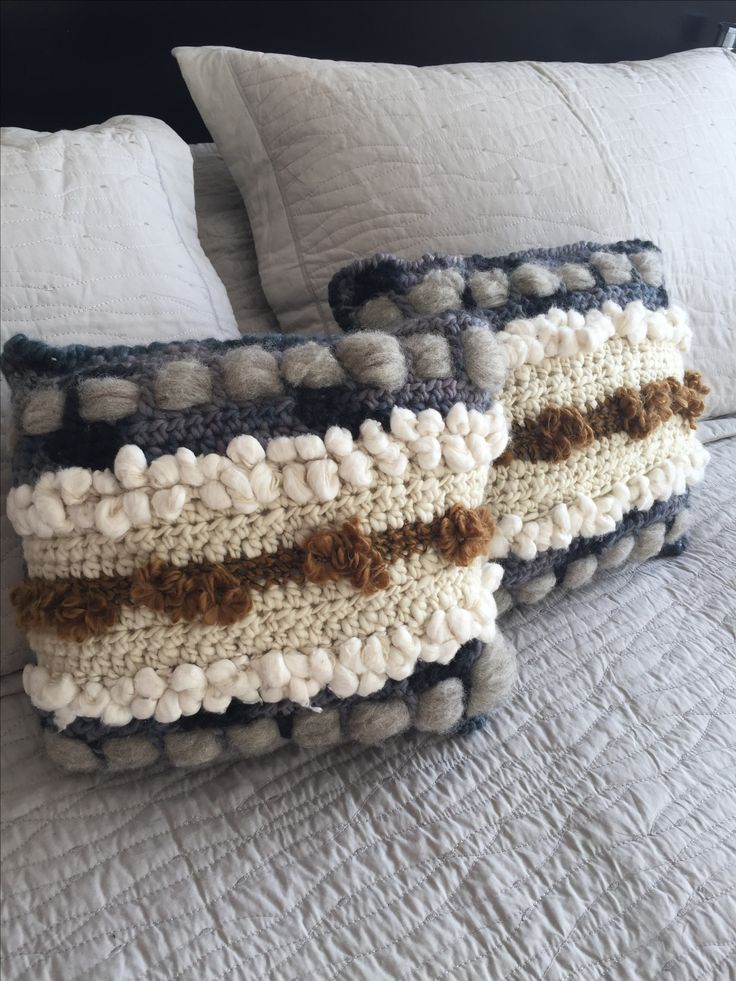 Cojín a crochet hecho por mí