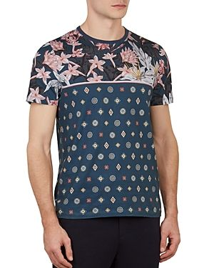 71305b8f4ca TED BAKER LYME FLORAL PRINT CREWNECK TEE.  tedbaker  cloth