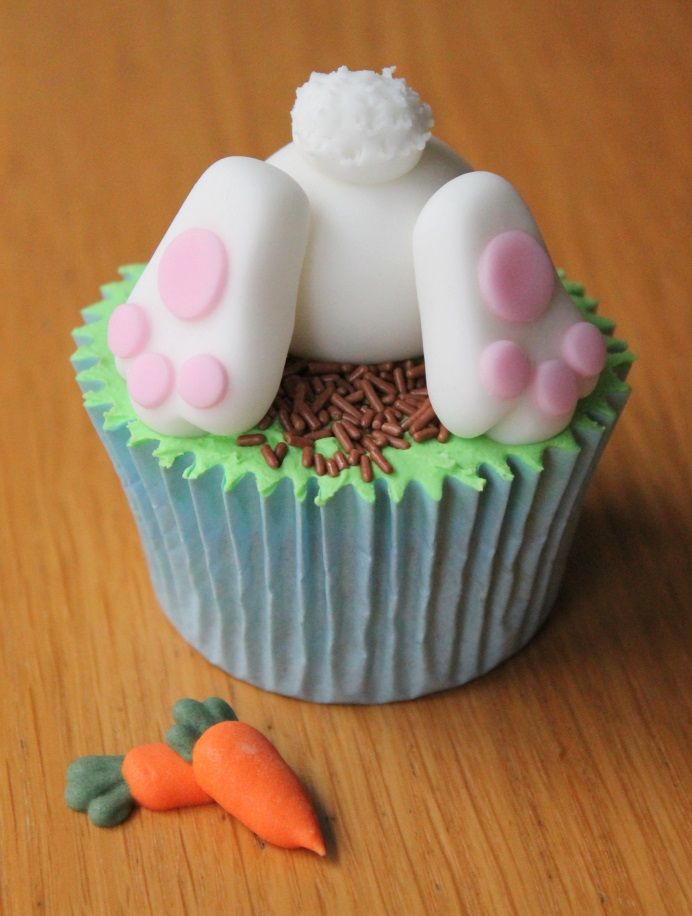 How to Make  aEaster Bunny Cupcake #Easter #Rabbit
