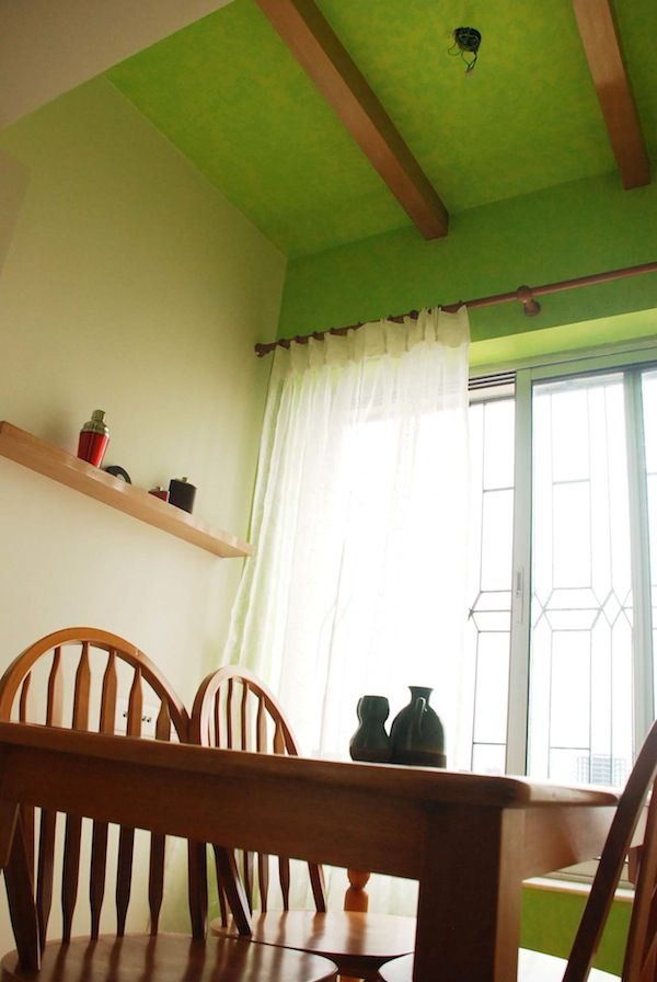 The #shade #green Is Just Delighful. Breathes #freshness Into Any Space.  False Ceiling DesignIndian HomesMouldingThe ...