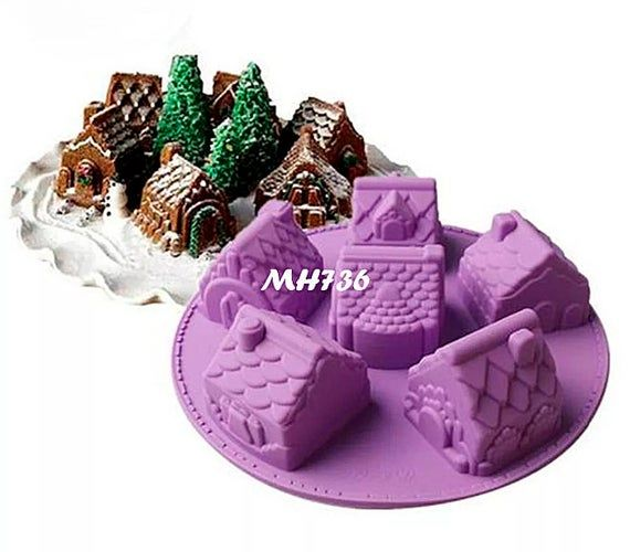 Christmas Cake Silicone Mold Chocolate Mold Handmade Soap Mold Easy to Demould Silicone Cake Mould