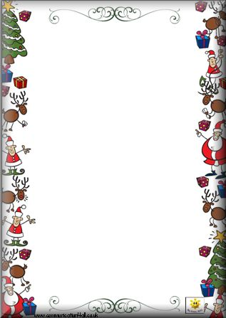 printable christmas border writing paper gift tag letter cards click the links below the - Christmas Writing Pages