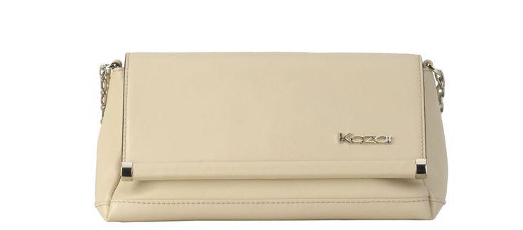 #Kazar Beżowa torebka skórzana 24317-16661-01-03 z kolekcji 2014 - sklep internetowy Kazar