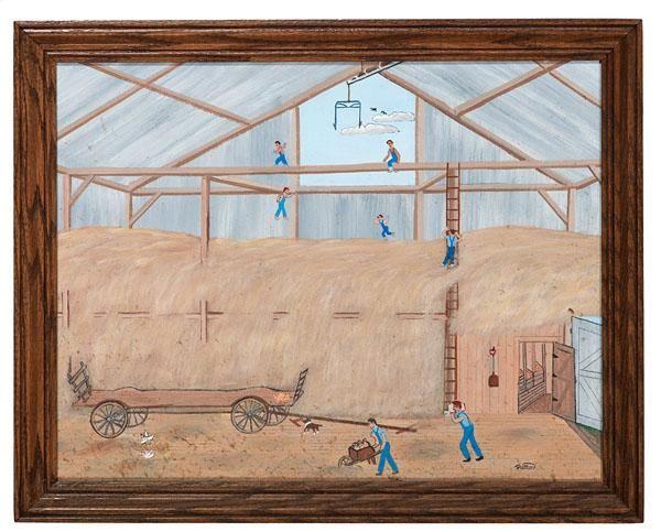 Ohio Folk Art Painting Hay Jump by Paul Patton - Price Estimate: $300 - $500