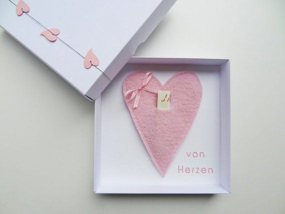 "Money gift packaging ""heart"" for wedding birthday gift, girlfriend girlfriend man woman birthday gift you him schnurzpieps card"