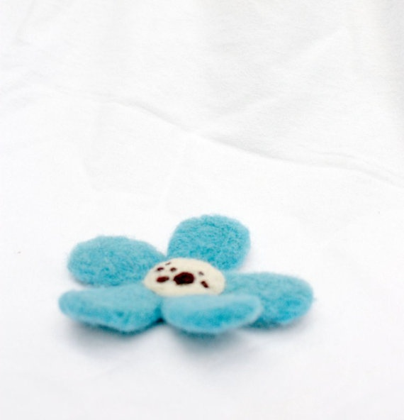 Blue DeeDee daisy flower with freckles  by ThePrimordialSheep, $16.00