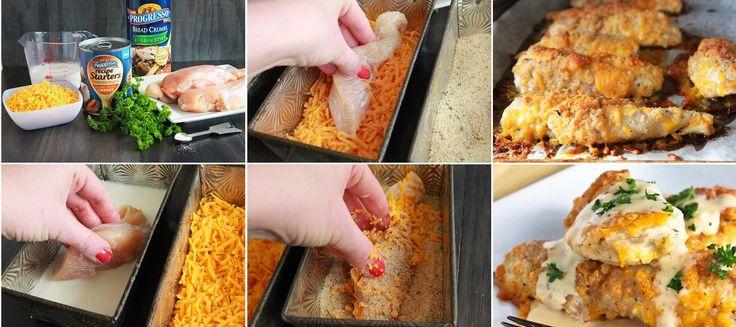 Recette de poulet cheddar croustillant | Maigrir Sans Faim