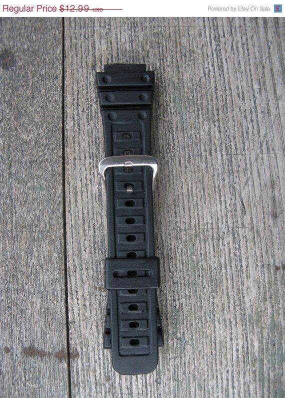 on sale vintage speidel express casio G - shock black mens watch band new old stock 18MM