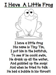 MUST pass on to my friend Ana who LOVES frogs and is a pretty awesome teacher as well. :)
