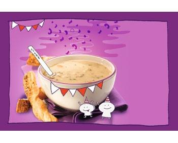 Champignonsoep met zelfgemaakte soepstengels