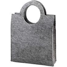 Damestas van gemêleerd grijs 5mm dik acrylvilt.  Afmeting 28 x 40 x 9,5 cm.    Verder te decoreren met o.a. vilt, naaldvilt of om te borduren  http://www.bijviltenzo.nl/a-25567586/van-vilt/c-van-vilt-damestas-grijs/