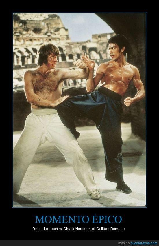 MOMENTO ÉPICO - Bruce Lee contra Chuck Norris en el Coliseo Romano