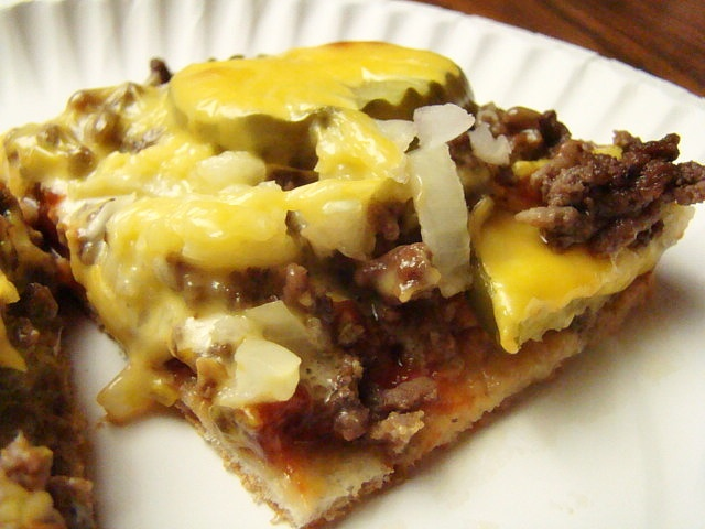 I love to make this!! It's so good! Kitchen: McDonald's Cheeseburger Pizza LBH