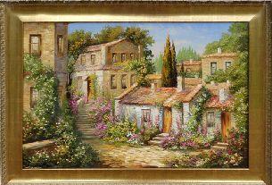 Греческий квартал - Средиземноморье <- Картины маслом <- Картины - Каталог | Универсальный интернет-магазин подарков и сувениров