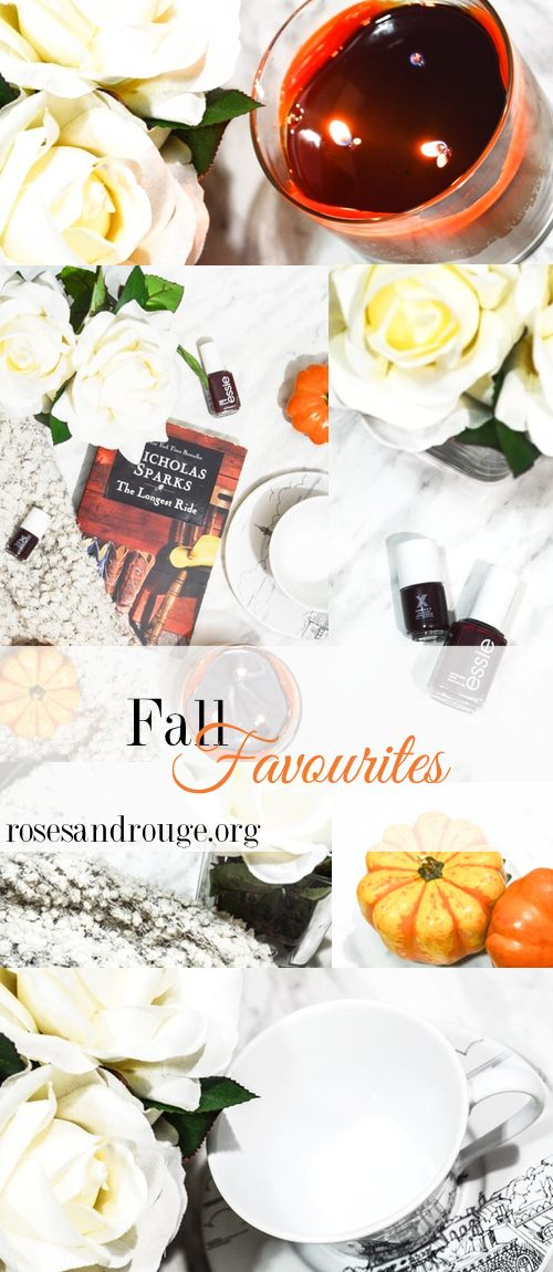 Fall is my favourite time of the year, find out what my favourite and must have items are for the season!   www.rosesandrouge.org