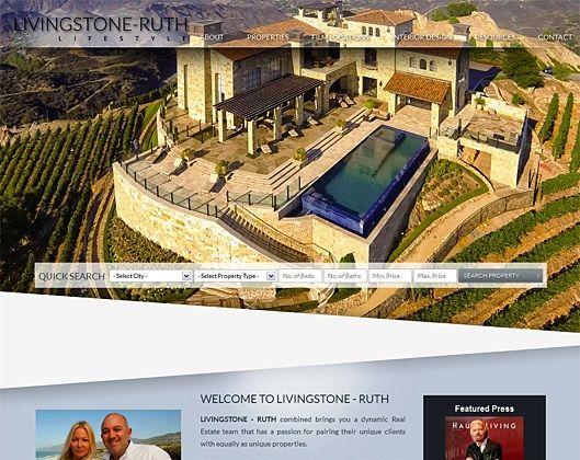 Website Real Estate Desain Terbaik - Livingstone-Ruth Lifestyle - Malibu, CA