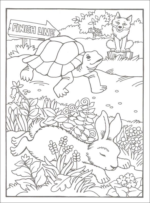 Best Loved Aesop S Fables Coloring Book Additional Photo Inside
