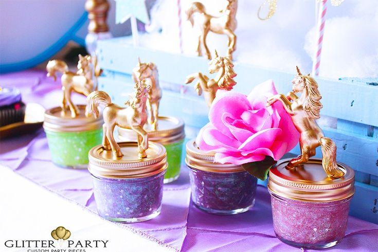 Unicorn slime DIY tutorial for unicorn themed party.