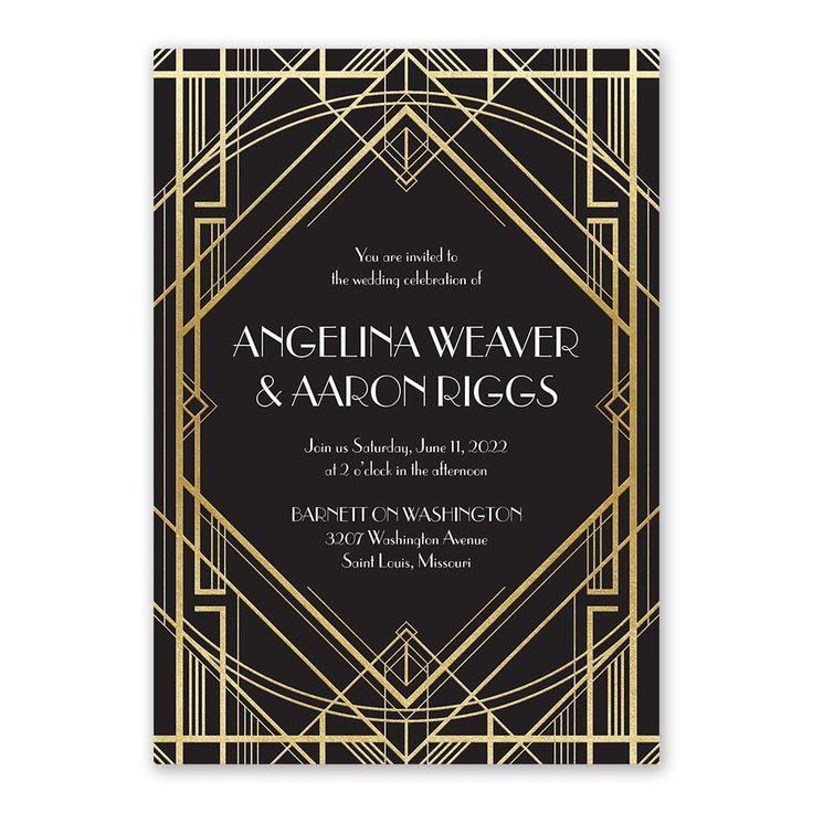 inexpensive wedding shower invitations%0A Glamorous  Foil Invitation