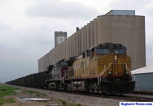 Saginaw, Texas is home to three of the largest functioning grain storage elevators in the world, dwarfing everything in town.