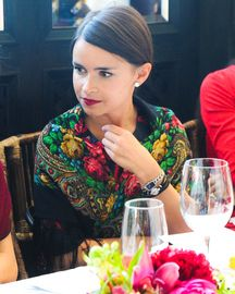 Miroslava Duma at Oscar de La Renta for THE OUTNET FW13 Luncheon - The russian style - #fashion #moda - #mode