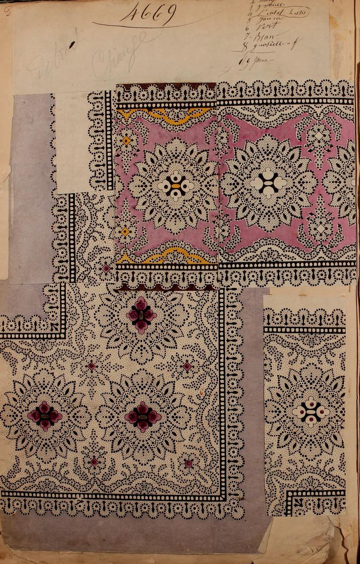 French textile samples 1863