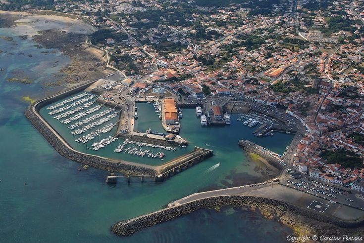 Photo aérienne de : Port-Joinville -Ile d'Yeu - Vendée (85)