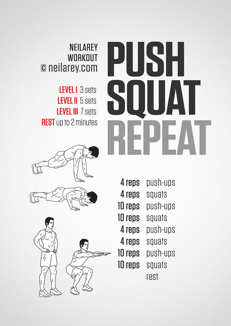Push, Squat, Repeat. A simple cycle of exercises that really helps you get fit.