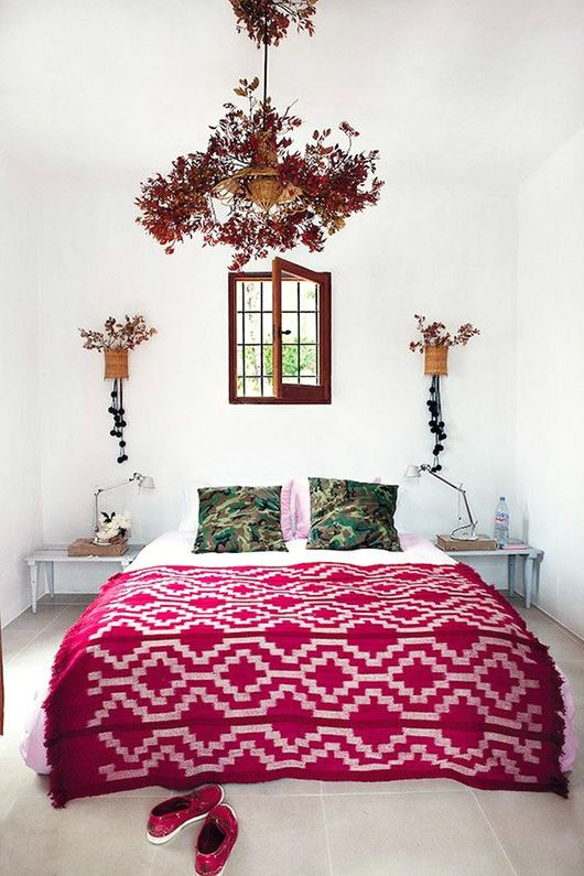 the boho bedroom.