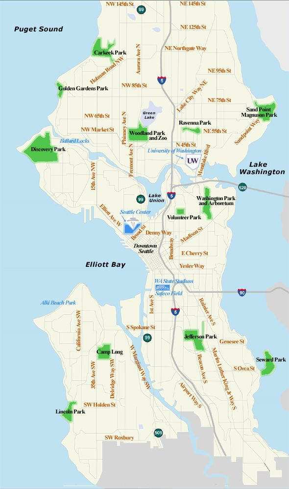 map of seattle  Maps for Seattle and Washington State  seattle