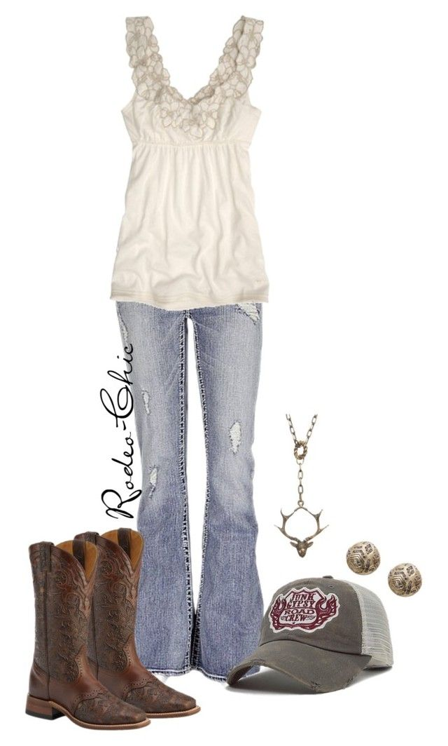 """""""Junk Gypsy"""" by rodeo-chic ❤ liked on Polyvore featuring Silver Jeans Co., Abercrombie & Fitch, Junk Gypsy, House of Harlow 1960, country, western and cowboyboots"""