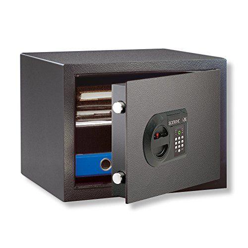 BURG-W�CHTER M�beltresor, Elektronisches Zahlenschloss, Sicherheitsstufe B, HomeSafe H 1 E, Schwarz