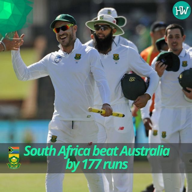 Beat Australia in Australia? Check! South Africa outplayed the Aussies and won the 1st Test! #AUSvSA #cricket #AUS #SA