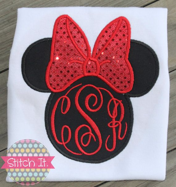 Sequin Minnie Mouse personalized appliqued shirt - Birthday or Disney