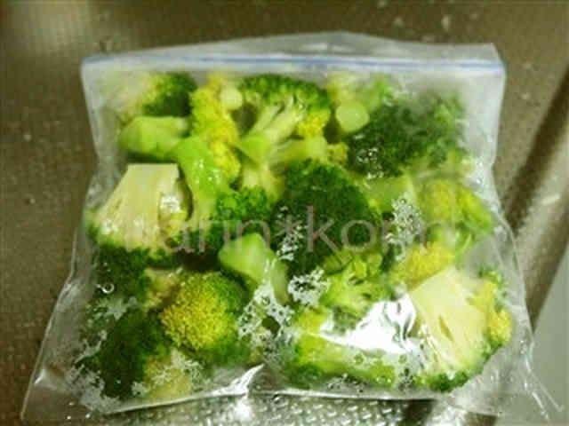保存*レンジde冷凍ブロッコリー
