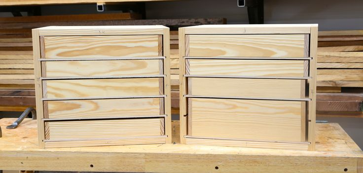 Shop drawers of this design are great for shop furniture. They are easy to build and assemble. And best of all, you can make them with offcuts and scraps.