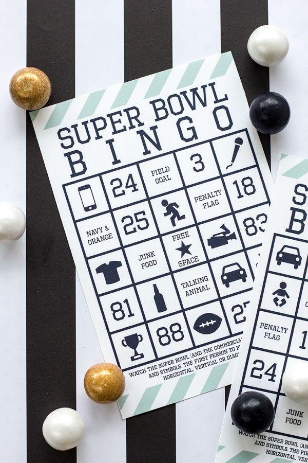 Super Bowl Bingo Free Printable