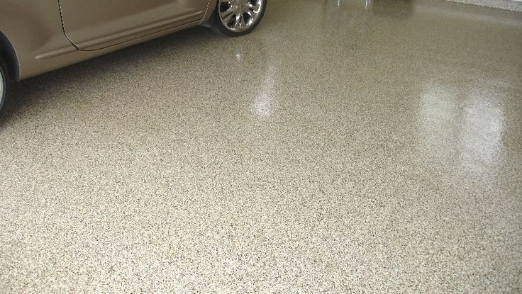 Garage Floor With Epoxy Flake Coating Home Ideas