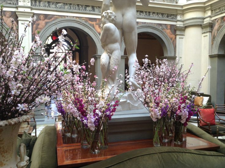 Blossom branches in Medici vases