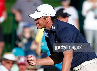 Brooks Koepka of the United States waits in the first fairway with... News Photo | Getty Images
