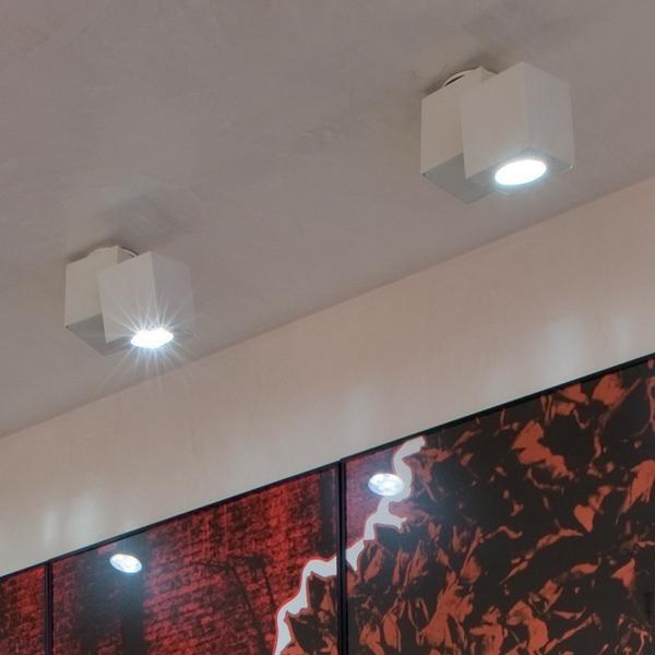 SERIE EQUAL MINI LED - FARETTO A LED DA PARETE E SOFFITTO.  Produttore: SEGNO by RELCO GROUP SPA  Materiali: CORPO IN ALLUMINIO ESTRUSO VERNICIATO IN BIANCO OPACO (RAL 9010) O IN NERO LUCIDO (RAL 9005), CHIUSURA DELLA SORGENTE IN VETRO TRASPARENTE TEMPERATO. ALIMENTATORE ELETTRONICO RELCO INCORPORATO.  Tipo di lampadina: LED 9W POWERLED (DA SPECIFICARE)  Numero di lampadine: 1  Lampadina inclusa: si  Tipologia sorgente: LED  Dimmer: presente  Emissione luce: DIFFUSA