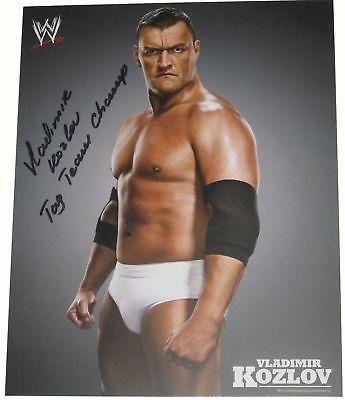 WWE VLADIMIR KOZLOV PROMO SIGNED WITH PROOF COA VER 1
