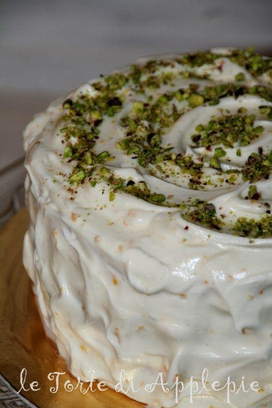 le torte di Applepie: Liberiamo una ricetta: torta arancia, pistacchio e cardamomo con frosting al mascarpone