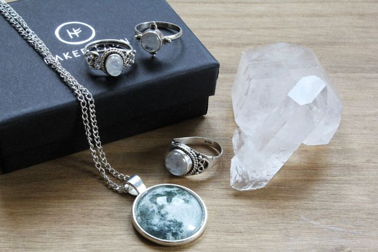 Moon Jewellery | Moonstone + Silver | all items at www.nakedfaun.com