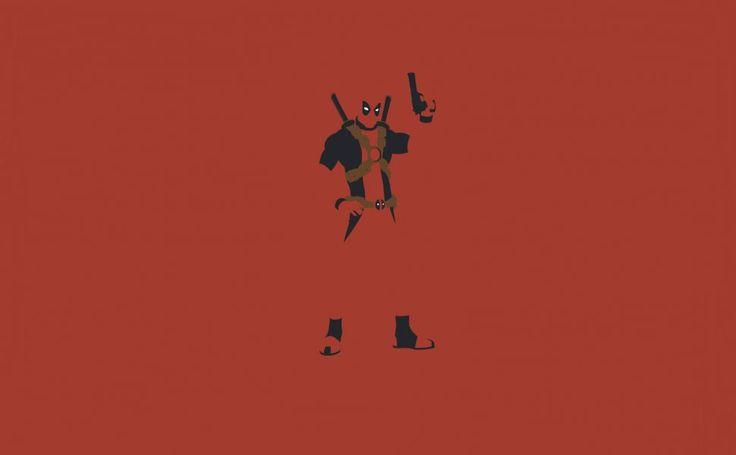 Minimalistic Deadpool HD Wallpaper