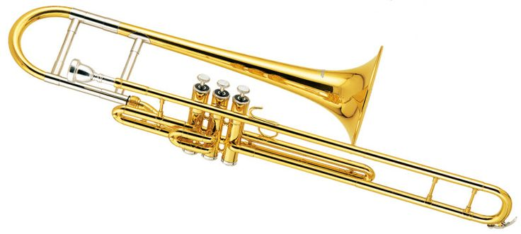 ==> [Free Shipping] Buy Best Eb Piston Trombone Brass Body with Wood case and Mouthpiece Slide trombones online shop Musical instruments professional Online with LOWEST Price | 1884287937