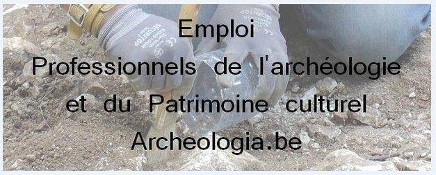 Emploi - Archeologia.be | Professionnels de l'Archéologie et du Patrimoine culturel #emploi #archéologie #patrimoine #culturel
