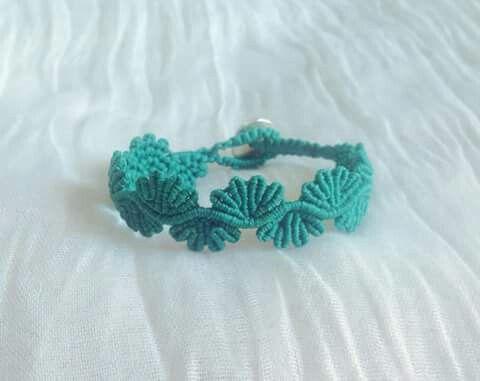 Lace micro macrame bracelet #my_armcandy